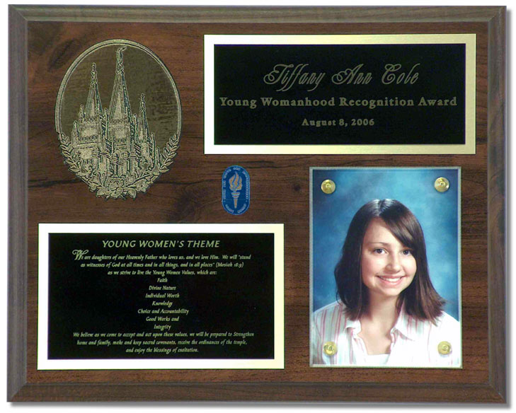 Individual Young Women Plaque