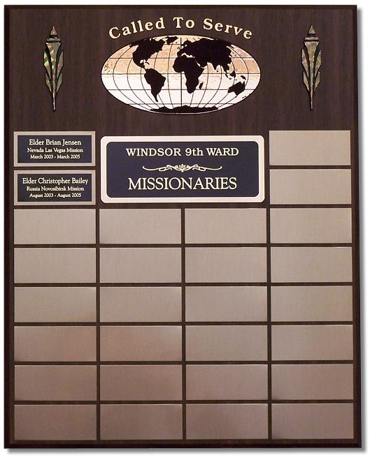 Small Missionary Plaque